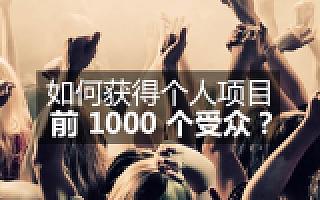 如何获得个人项目的前 1000 个受众?