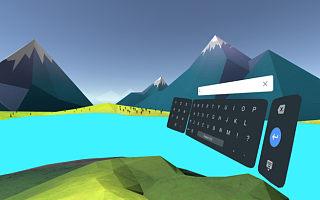 谷歌给用户准备了在 VR 系统里打字的 Daydream 键盘应用