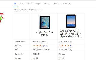 如何逼死选择困难症患者:谷歌推出产品对比功能