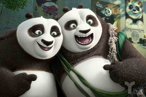 创意熊猫招聘海报
