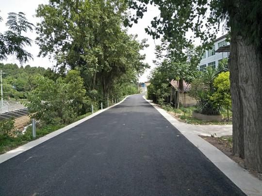 成都高新区首批农村公路提升改造工程完工图片