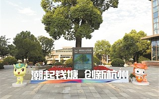 """2019年全国双创活动周吉祥物""""壮壮""""""""杭杭""""在杭州欢迎你"""