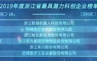 创业伙伴||当虹科技、中科极光荣登2019浙江省最具潜力科创企业榜单