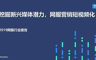 TalkingData:2019网服行业报告(附下载)