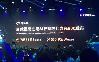 阿里平头哥发布含光800芯片,全球最高性能AI推理芯片