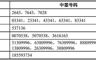佳禾智能IPO:网上中签号码共7.5万个 网下15名投资者未参与申购