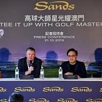 高球巨星菲尔-米克尔森及李昊桐出席高尔夫球营