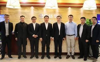 能链集团创始人戴震欢迎重庆高新区领导到访