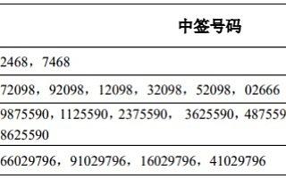锐明技术IPO:网上中签号码共3.89万个 网下20名投资者未参与申购
