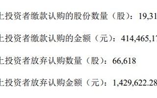 易天股份IPO:网上投资者弃购6.66万股 弃购金额143万元