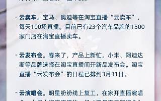 暖报!100种线下职业转战淘宝直播:云卖房、云卖车、云发布会