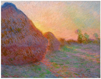 克劳德·莫奈 (Claude Monet) - Haystacks (1890)