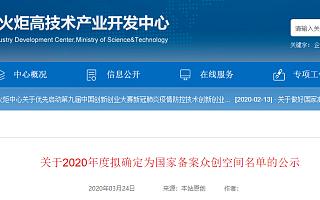 2020年度拟备案国家众创空间名单公布