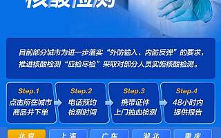 京东健康:核酸检测线上预约服务成交量环比增长近5倍
