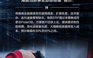 海鼎ERP全面兼容阿里云PolarDB数据库 可帮零售企业成本下降50%