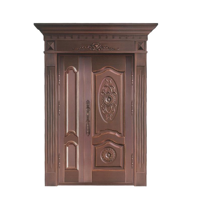 上海御筑铜艺丨入户门选不锈钢门、铜门还是木门?