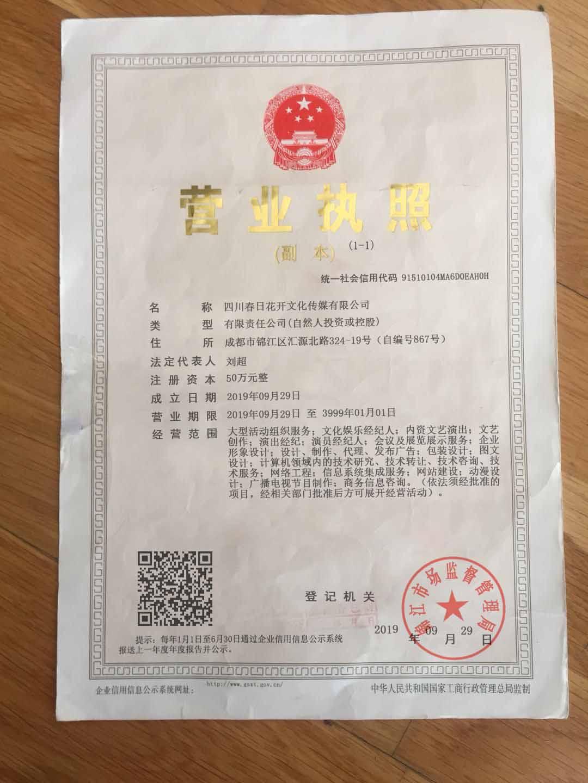 四川省春日花开文化传媒有限公司
