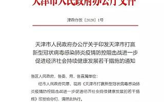 [天津]21条来了!为企业解困,促进经济发展