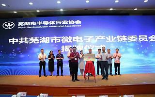 芜湖市微电子产业链党委在弋江区正式揭牌成立