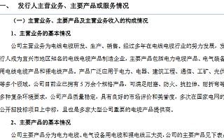 浦漕科技精选层申报材料获受理 电缆产品多次中标国家电网项目