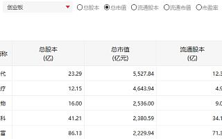 金龙鱼上市首日大涨69.34%:总市值2363亿元跻身创业板总市值前五