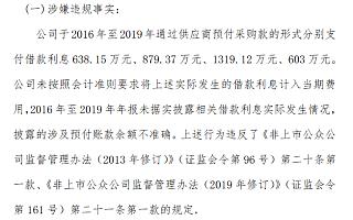 禾美农业未将3440万元借款利息计入当期费用构成违规 董事长杜正东收警示函