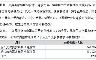 """金麒麟精选层申报材料获受理 承接多个国家级""""十三五""""光伏扶贫项目"""