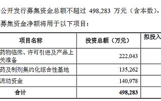 复星医药抛50亿元定增计划:近一半募资用于支付药品许可引进
