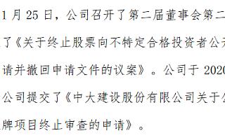 中大股份提交精选层终止审查申请 重新规划资本市场战略
