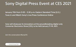 CES 2021将采用全数字化形式,索尼公布在线发布平台