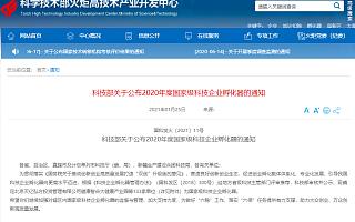2020年国家级科技企业孵化器名单公布,江苏占13%