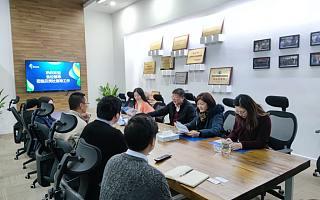 浙江大学校友总会一行走访校友企业并送上新年祝福