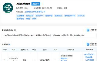 """""""上海细胞""""获近5亿元D轮融资,交易对手含海尔资本"""