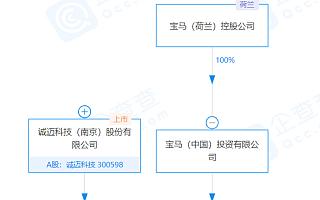 宝马中国、诚迈科技共同成立信息技术公司,注册资本5000万