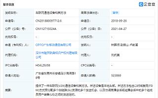 """OPPO关联公司公开""""车联网通信设备和其方法""""专利"""