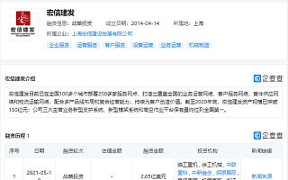 """中联重科、招银国际等投资设备综合运营服务商""""宏信建发"""""""