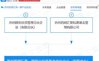 药明康德关联公司成立产业投资基金合伙企业,注册资本1.01亿
