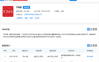 新式茶饮品牌TNO获数千万元Pre-A轮融资