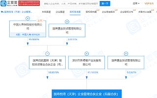 中国人寿关联公司参股成立企业管理合伙企业,注册资本37.41亿