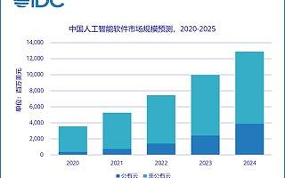 IDC:2020 年中国 AI 云服务市场规模达 24.1 亿元人民币