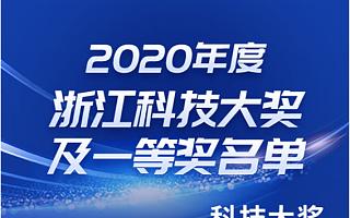 创业伙伴  嘉晨西海荣获2020年度浙江科技大奖一等奖