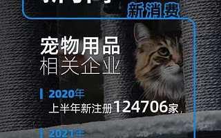 宠物用品相关企业上半年注册量同比上涨150.5%,福建龙岩企业最多