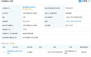 暴风集团及其法定代表人冯鑫再被限制高消费
