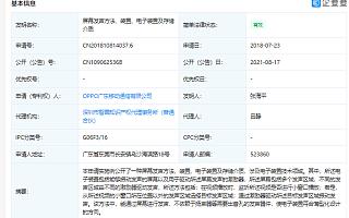 OPPO获屏幕发声专利授权