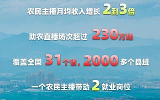 淘宝直播:11万农民主播平均月收入翻番,带动20万人就业